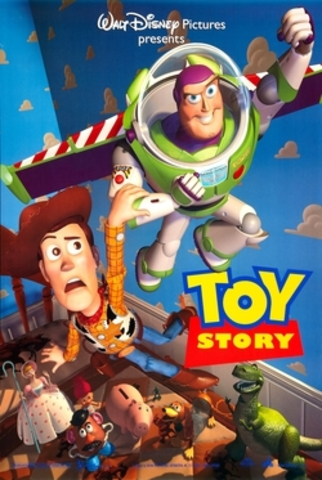 """""""Toy Story"""", the first ever fully computer-animated film, was released."""