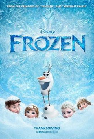 """""""Frozen"""", created by Disney, was/is the highest grossing animated film of all time"""