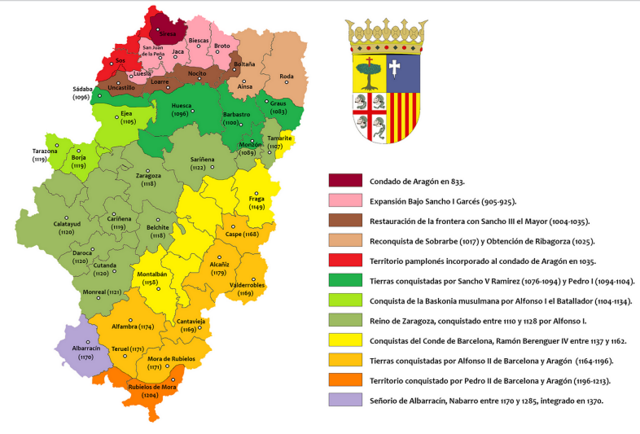 Se forma el condado de Aragón