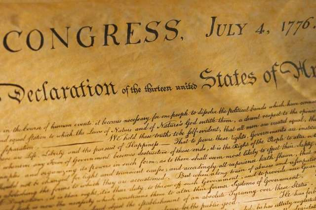 The Declaration of Independence in 1776