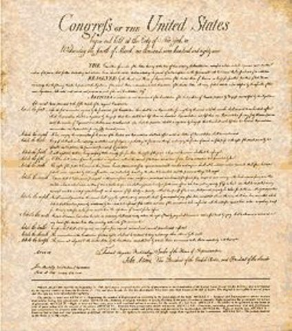The Bill of Rights 1789