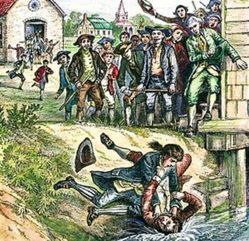 Shays Rebellion in 1786