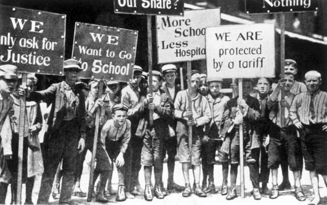 Mother Jones Leads Child Strike