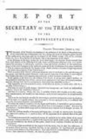 Hamilton's first report on public credit