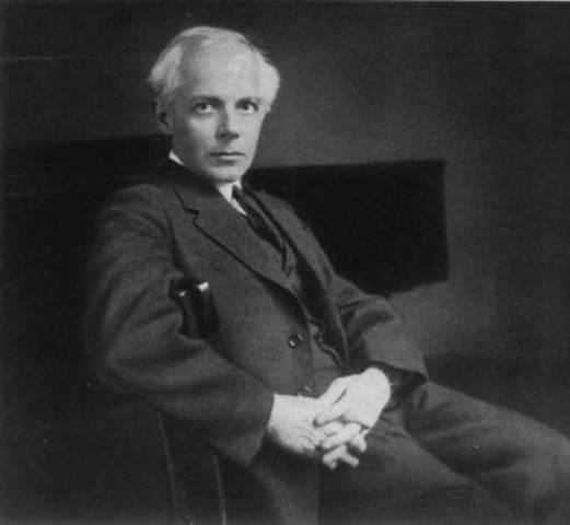 Nacimiento de Béla Viktor János Bartók