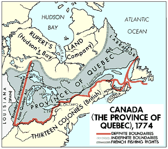 The Quebec Act.