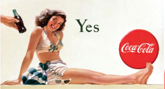 Publicidad: Coca-Cola en la postguerra, medios impresos