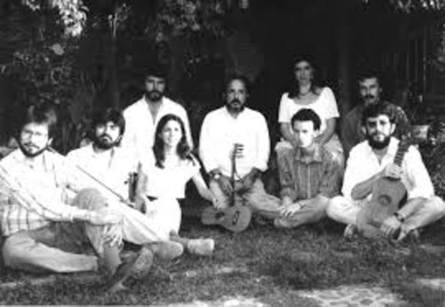 Antonio García de León y el grupo Zacamandú