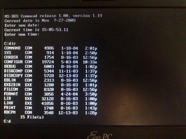 86-DOS 1.0 - переименованная в MS-DOS 1.0