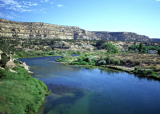 Congress appropriates first money to build the Navajo Reservoir.