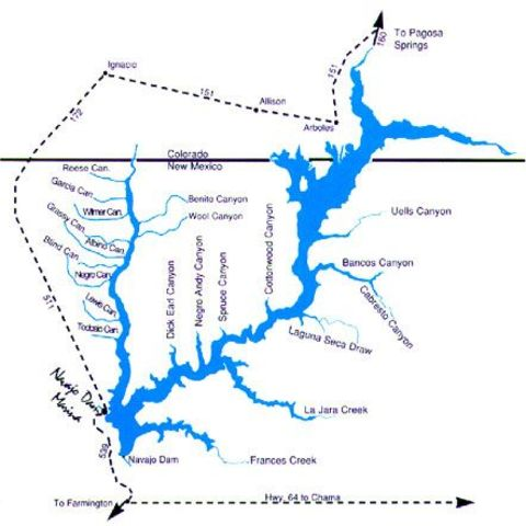 Navajo Reservoir is complete.