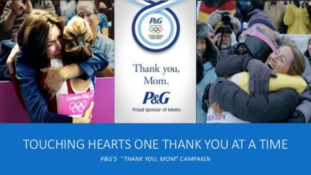 "Publicidad: P&G ""Thank you, mom"", audiovisual"