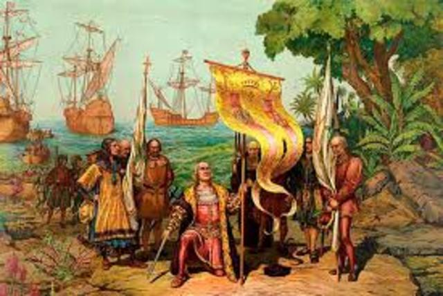 """Christopher Columbus  Arrives In America"""