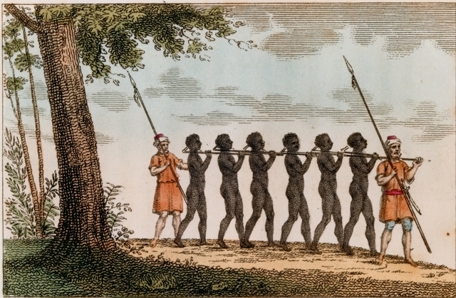 First slaves from Africa to America.