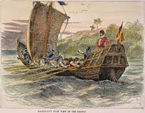 Magellan Sails into Pacific Ocean