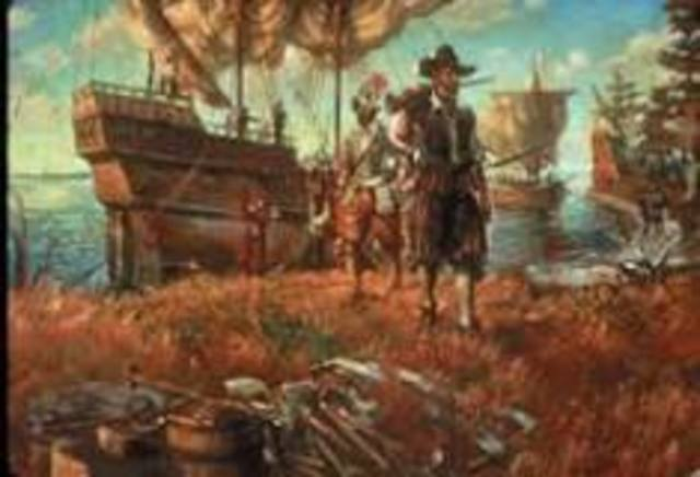 Jamestown in Virginia is established by the English.