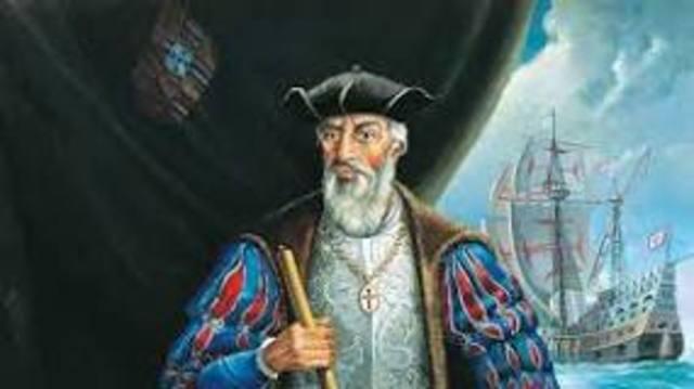 Vasco da Gama, Explore Africa until he reached India.