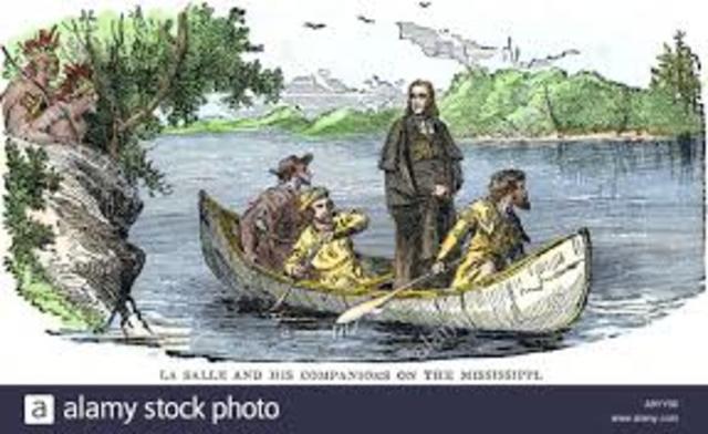La Salle Explores the lower Mississippi River