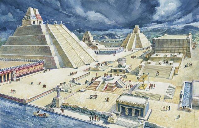 Los aztecas comienzan a construir la ciudad de Tenochtitlán