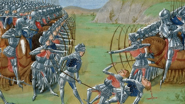 En Francia comienza la guerra de los Cien Años, con la pretensión del rey inglés Eduardo III a la corona francesa