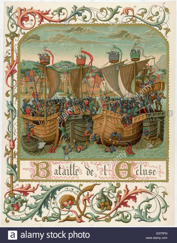 La flota inglesa vence a la francesa en la batalla de Sluys