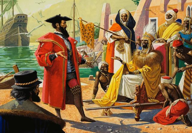 Vasco de Gama arribó a las Indias después de Bordear El continente Africano.