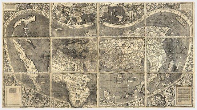 el primer mapa mundial en mostrar a América del Sur