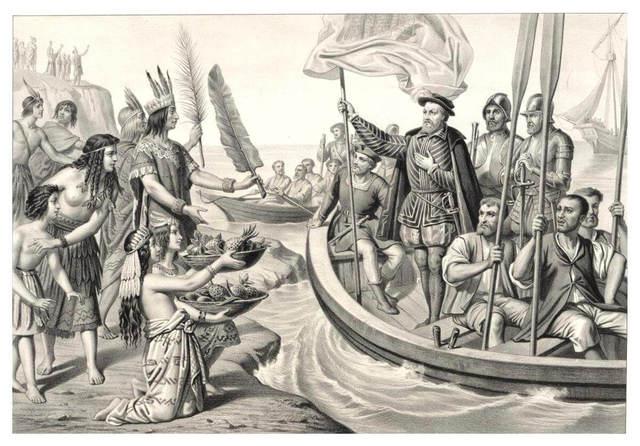 Hernán Cortés llega a México