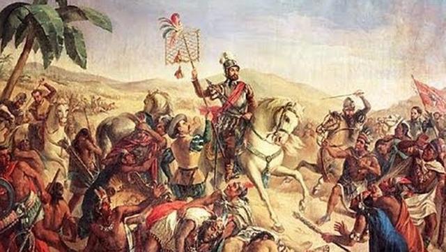 Hernán Cortés toma Tenochtitlan y derrote al Imperio Aztecas