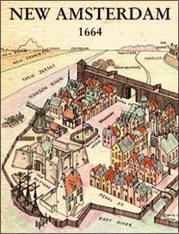 Los holandeses fundan Nueva Ámsterdam