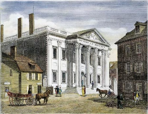 The first bank of the US chartered