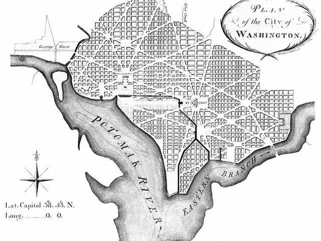 Washington DC chosen as the capital