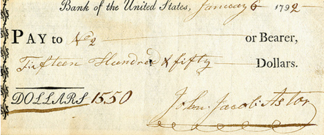 First Bank of the United States Charter