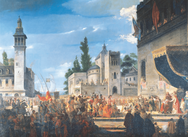 Recibimiento de Cristóbal Colón