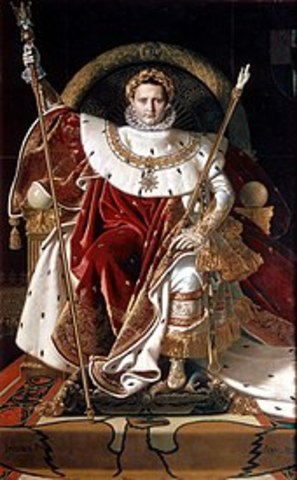 Napolean crowns himself Emperor of France