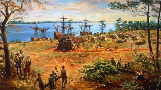 Jamestown, Virginia founded by English