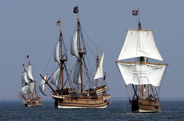 English set sail for New World