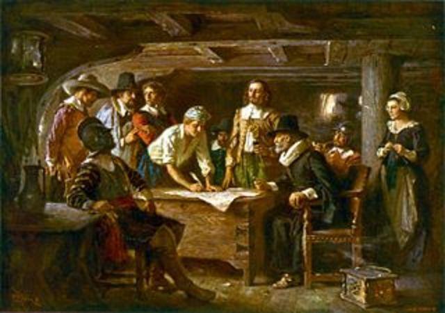 Plymouth settlement/ Mayflower Compact