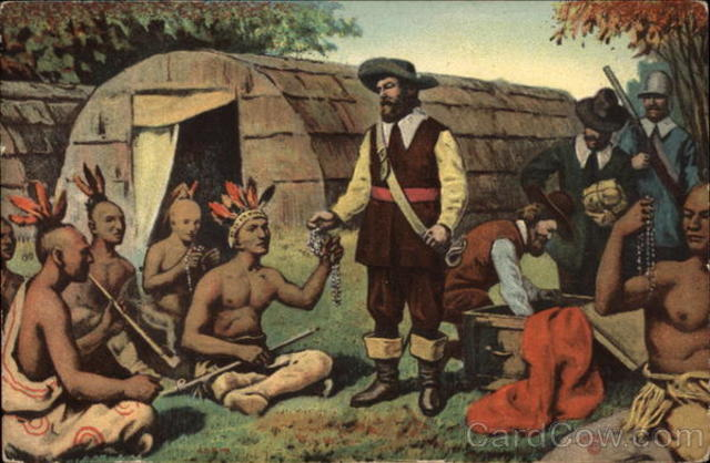 The Dutch purchased Manhattan from Indians