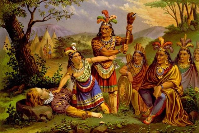 Marriage of Pocahontas to John Rolfe