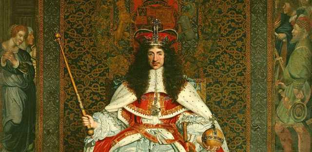 King Charles II to throne