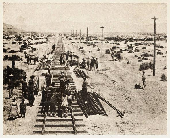 Transcontinental Railroad .