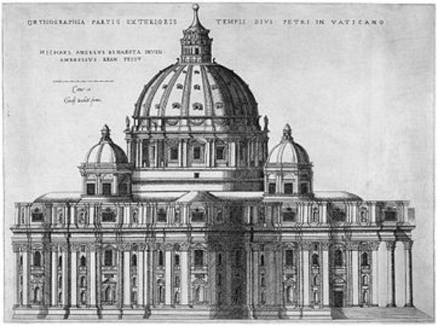 Primera piedra de la basílica de San Pedro