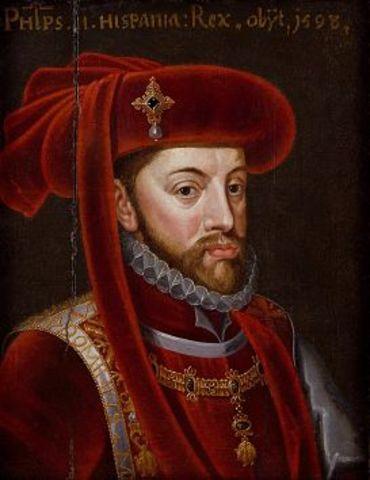 Carlos I abdica en favor de Felipe II