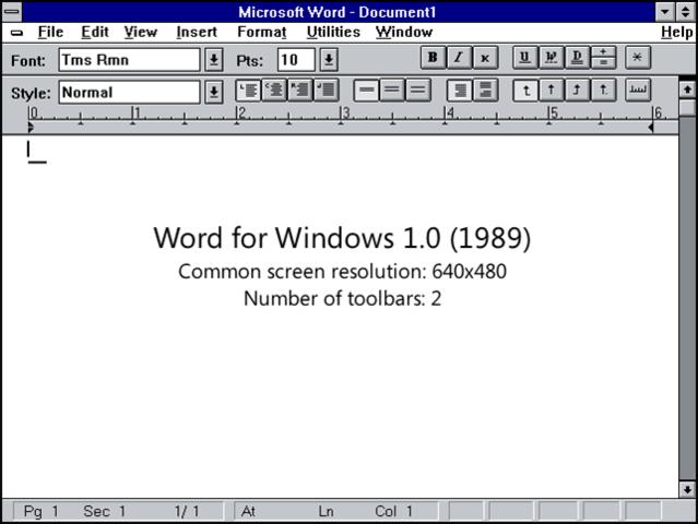 el primer Microsoft office