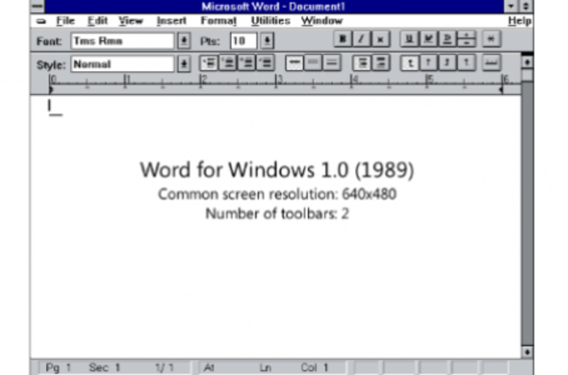 Microsoft Office 1.0