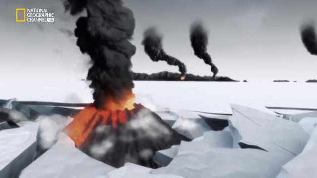 Volcanes que salen del hielo