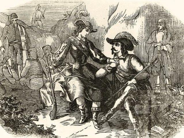 Joan de Serrallonga rapta la Joana