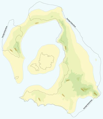 Erupció del volcadel'illa de thera .