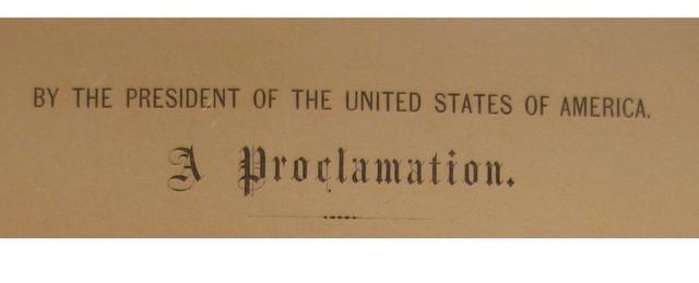 The Emancipation Proclomation